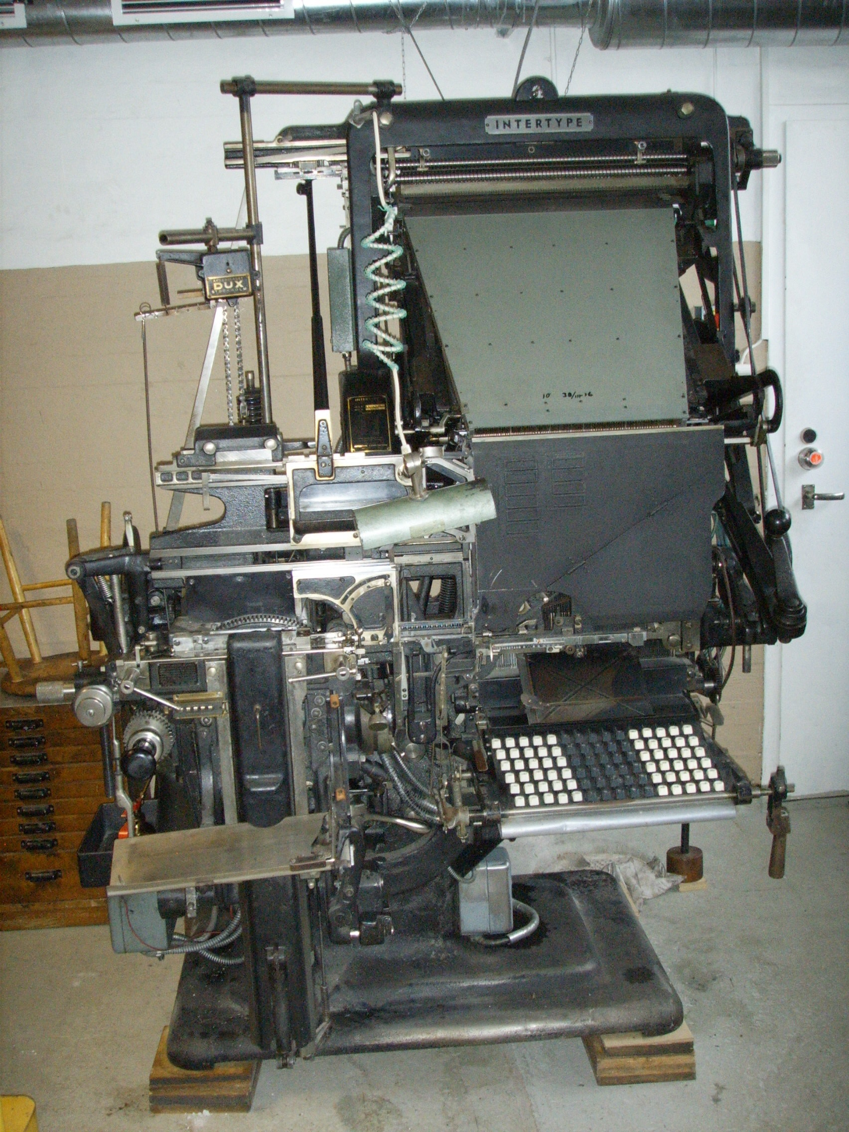 Sättmaskin Intertype  2001